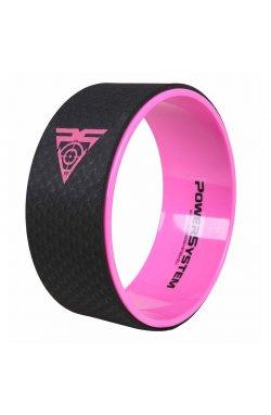 Йога колесо для фитнеса и аэробики Power SystemYoga Wheel Pro PS-4085 Black/Pink