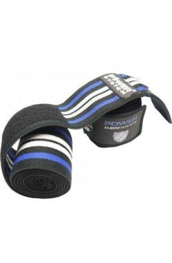 Локтевые бинты Power System Elbow Wraps PS-3600 Blue/Black