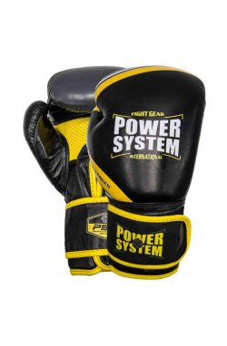 Перчатки для бокса PowerSystem PS 5005 Challenger Black/Yellow 12 oz
