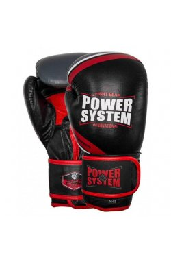 Перчатки для бокса PowerSystem PS 5005 Challenger Black/Red 10 oz