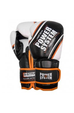 Перчатки для бокса PowerSystem PS 5006 Contender Black/Orange Line 14 oz