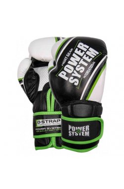 Перчатки для бокса PowerSystem PS 5006 Contender Black/Green Line 12 oz