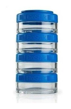 Контейнер спортивный BlenderBottle GoStak 4*40ml Blue (ORIGINAL)
