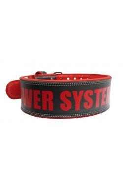 Пояс для тяжелой атлетики Power System Beast PS-3830 Black/Red M