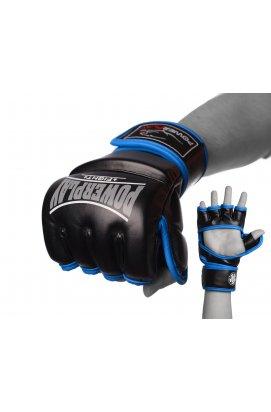 Перчатки для  MMA PowerPlay 3058 Чорно-Сини