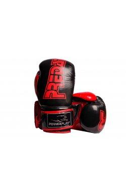 Боксерские перчатки PowerPlay 3017 Чорні карбон