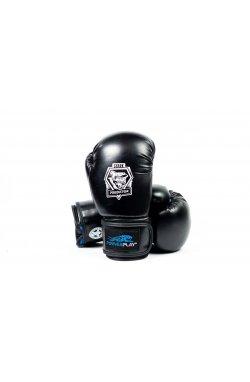 Боксерские перчатки PowerPlay 3001 Чорно-Синие