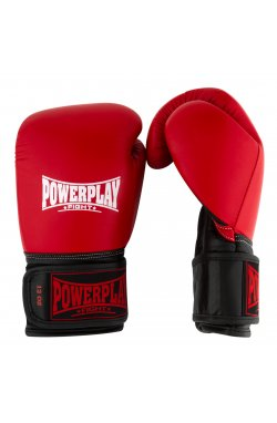 Боксерские перчатки PowerPlay 3015 Червоні [натуральная кожа]