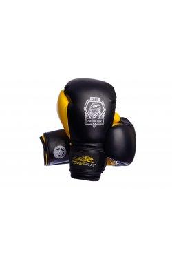 Боксерские перчатки PowerPlay 3002 Чорно-Жовті