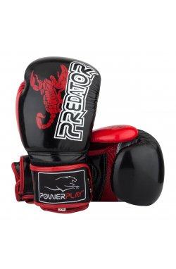 Боксерские перчатки PowerPlay 3007 Чорні карбон