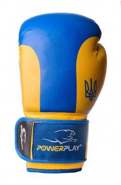 Боксерские перчатки PowerPlay 3021 Ukraine Синьо-Жовті