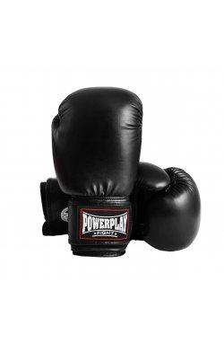 Боксерские перчатки PowerPlay 3004 Чорні