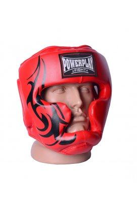 Боксерський шлем тренировочный PowerPlay 3043 Красный