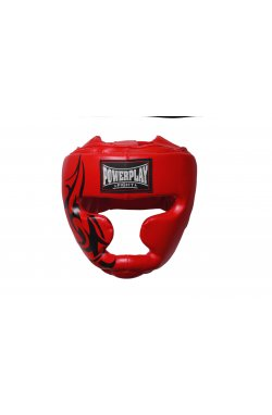 Боксерський шолом тренировочный PowerPlay 3043 Красный