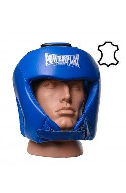 Боксерський шолом турнирный PowerPlay 3049 Синией