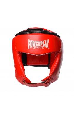 Боксерський шолом турнирный PowerPlay 3049 Красный