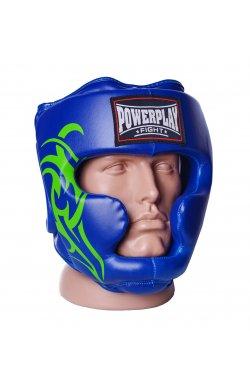 Боксерський шолом тренировочный PowerPlay 3043 Синией