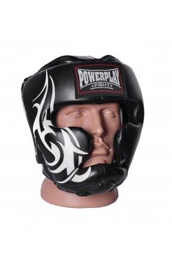 Боксерський шолом тренировочный PowerPlay 3043 Чорний