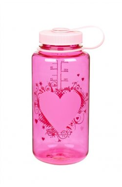 Пляшка для води Nalgene Wide ounth Heart Малинова 1 л.