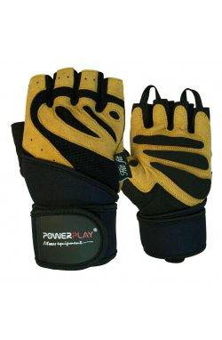 Перчатки для фитнеса PowerPlay 1063 B Чорно-Коричневі