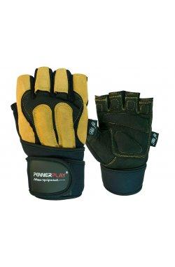 Перчатки для фитнеса PowerPlay 1071 А Чорно-Коричневі