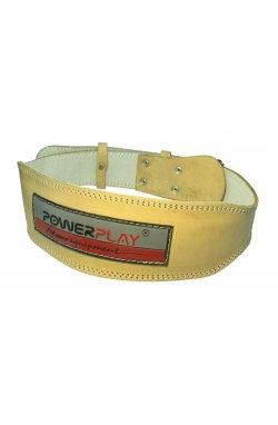 Пояс для тяжёлой атлетики PowerPlay 5084 Світло коричневий