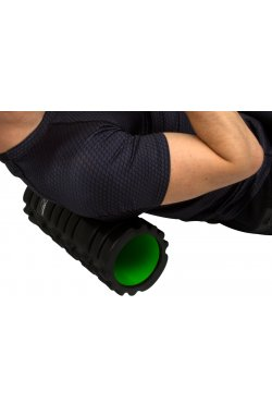 Массажный ролик PowerPlay 4025 Чорно-Зелений.