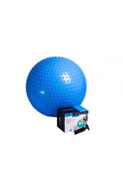 Мяч-Массажер для фитнеса PowerPlay 4002 75см Синий + насос