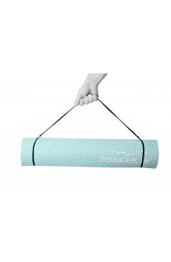 Коврик для фитнеса и йоги PowerPlay 4010 (173*61* 0.6) М'ятний