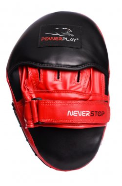 Лапы боксерские PowerPlay 3051 Чорно-Красные PU [пара]