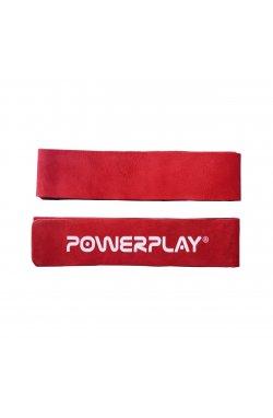 Лямки для тяги PowerPlay 5205 Шкіра Красные