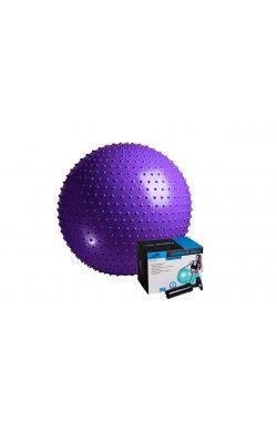 Мяч-Массажер для фитнеса PowerPlay 4002 75см Фіолетовий + насос