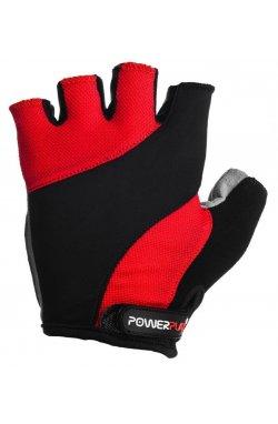 Велорукавички PowerPlay 5041 D Чорно-червоні X