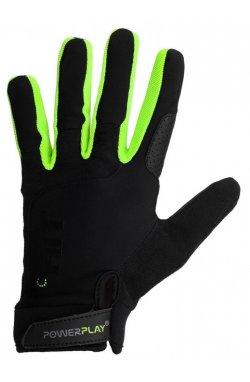 Перчатки для кроссфіту PowerPlay Hit Full Finger Чорно-Зеленые