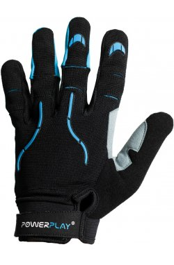 Велоперчатки PowerPlay 6662 А Чорно-Блакитні