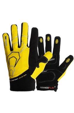 Велоперчатки PowerPlay 6556 Желтые