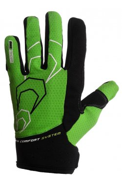 Велоперчатки PowerPlay 6556 А Зеленые