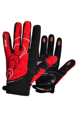 Велоперчатки PowerPlay 6556 С Красные