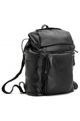 Вместительный кожаный рюкзак, черный, унисекс от Tiding Leather 3067 Черный
