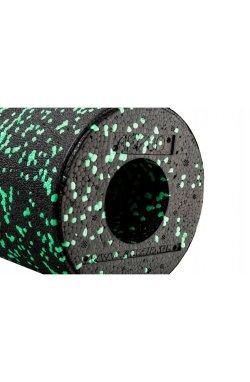 Массажный ролик (валик, роллер) гладкий 4FIZJO EPP 33 x 14 см 4FJ1424 Black/Green