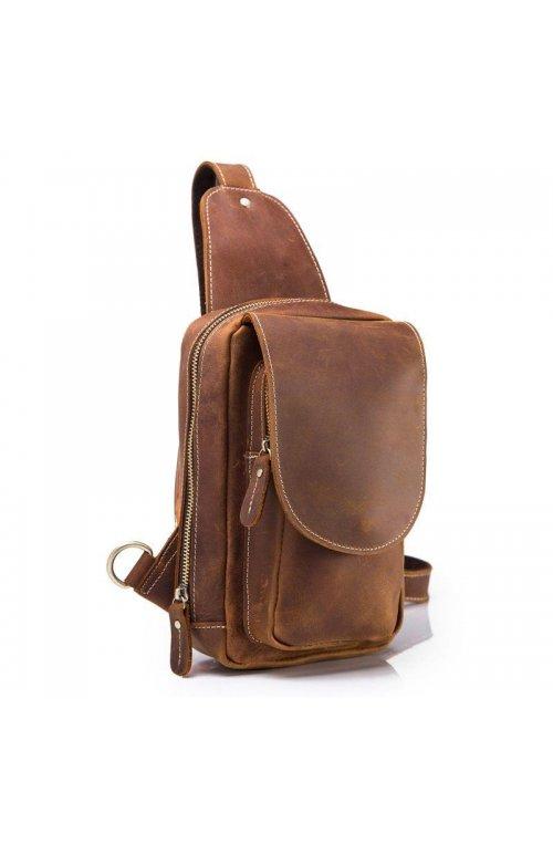 "Мини-рюкзак кожаный ""слинг"" на одно плечо bx9800 Bexhill Коричневый"