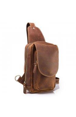 """Мини-рюкзак кожаный """"слинг"""" на одно плечо bx9800 Bexhill"""