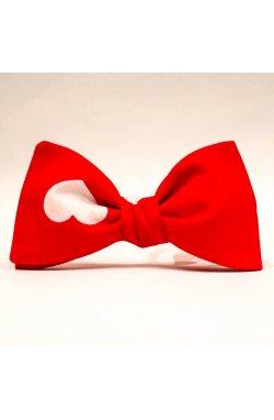 Галстук-бабочка Krago Red Heartbeat 34-45 см красный