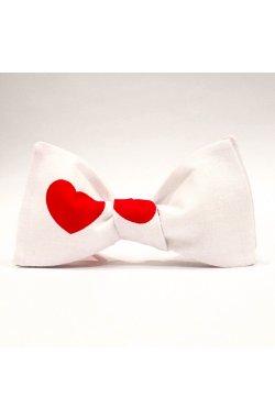 Галстук-бабочка Krago White Heartbeat 34-45 см белый