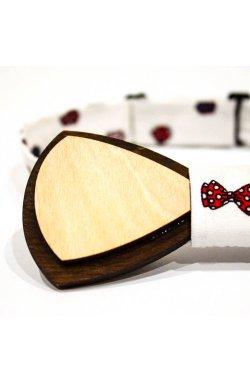 Галстук-бабочка Krago Recursion Wooden 34-45 см белый
