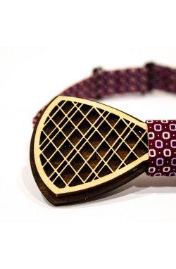 Галстук-бабочка Krago Red Button Wooden 34-45 см бордовый