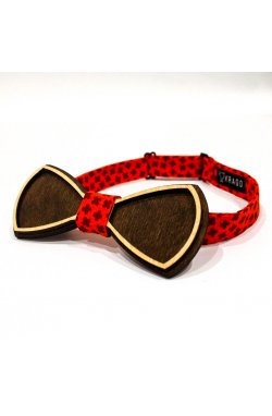 Галстук-бабочка Krago Smashing Deep Red Wooden 34-45 см красный