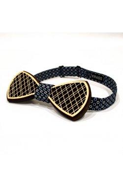 Галстук-бабочка Krago Blue Button Wooden 34-45 см синий
