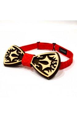 Галстук-бабочка Krago Princely Red Wooden 34-45 см красный