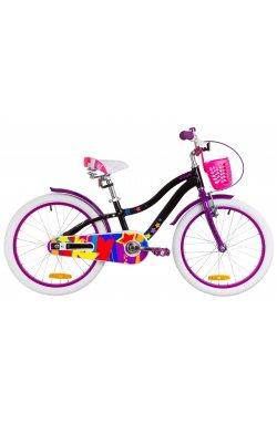 """Велосипед 20"""" Formula CREAM 2019 (черно-фиолетовый)"""